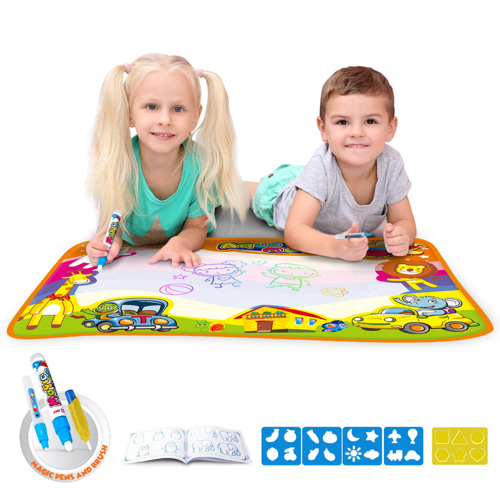 Ultimate Water Drawing Mat for Little Boys & Girls [34.5'' X 22.5'']-Daily Steals