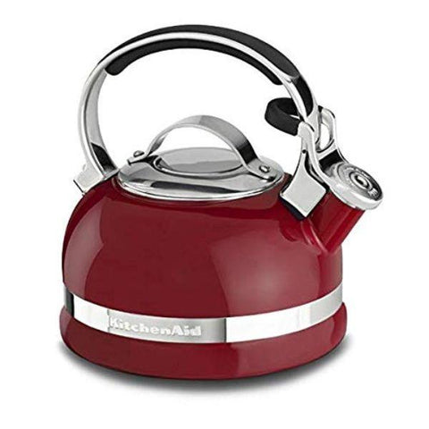 Daily Steals-KitchenAid 2.0-Quart Kettle with Full Stainless Steel Handle and Trim Band - Empire Red-Kitchen-