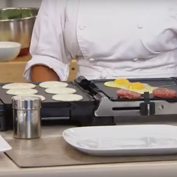 Wolfgang Puck 6-in-1 Reversible Contact Grill and Griddle with Recipes-Daily Steals