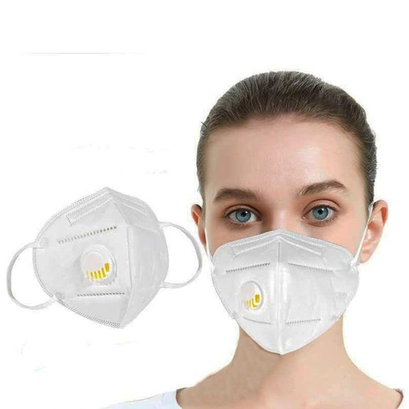 KN95 White Disposable Face Masks with Flow Exhalation Valve-Daily Steals