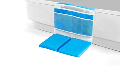 update alt-text with template Daily Steals-Anti Skid Detachable Baby Bath Kneeler with Large Organizers-Toddlers and Babies-