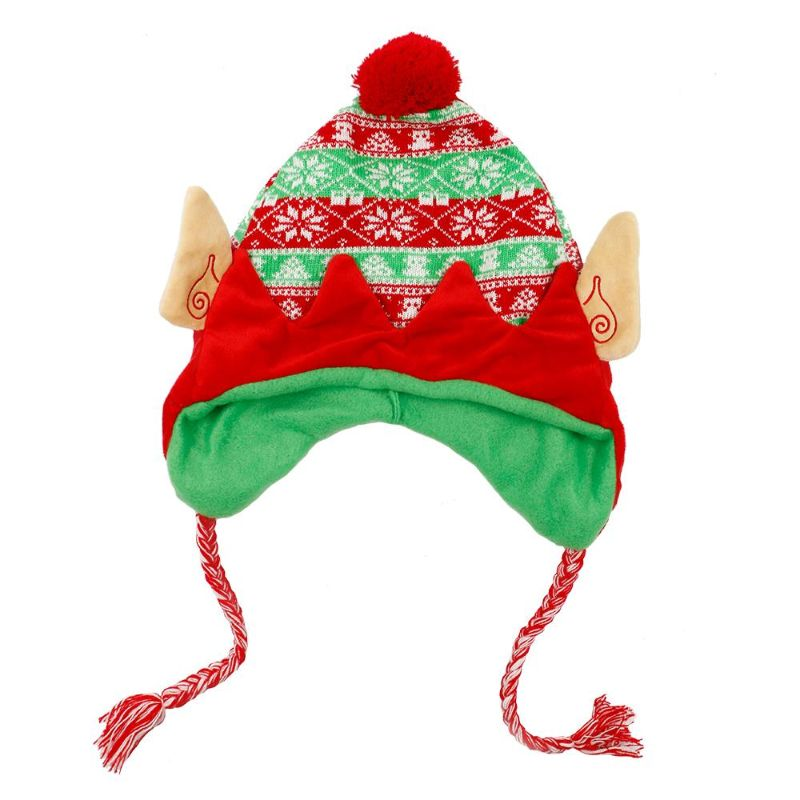 Unisex One Size Fits Most Holiday Knit Luxury Elf Hat