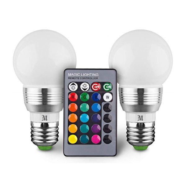 Kobra Retro LED Color Changing Light Bulbs-2-Pack-Daily Steals