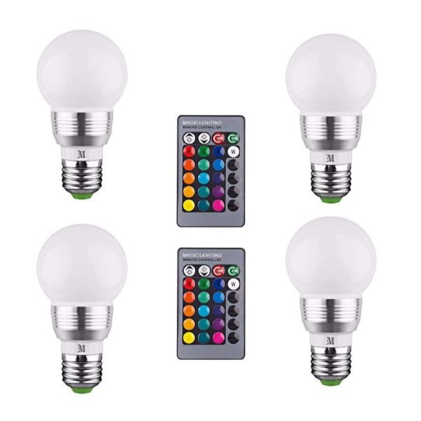 Kobra Retro LED Color Changing Light Bulbs-4-Pack-Daily Steals