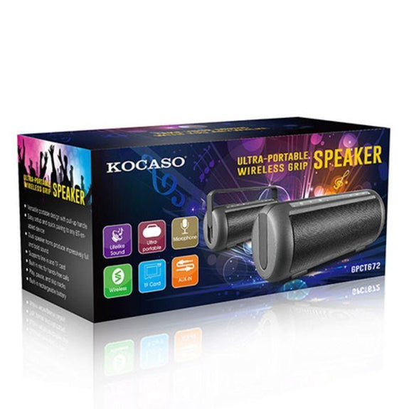 KOCASO Ultra-Portable Wireless Bluetooth Grip Speaker-