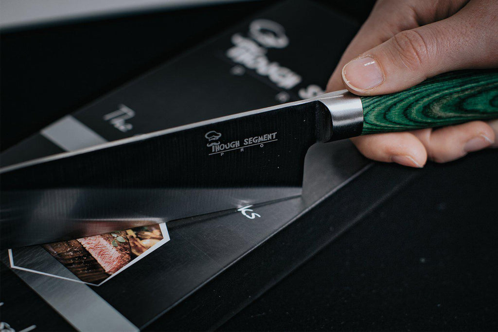High-Carbon Stainless Steel Professional Chef Pakkawood Knife with Finger Guard