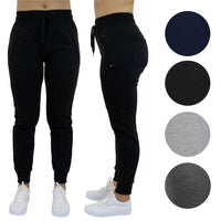 Women's French Terry Joggers With Zipper Pockets