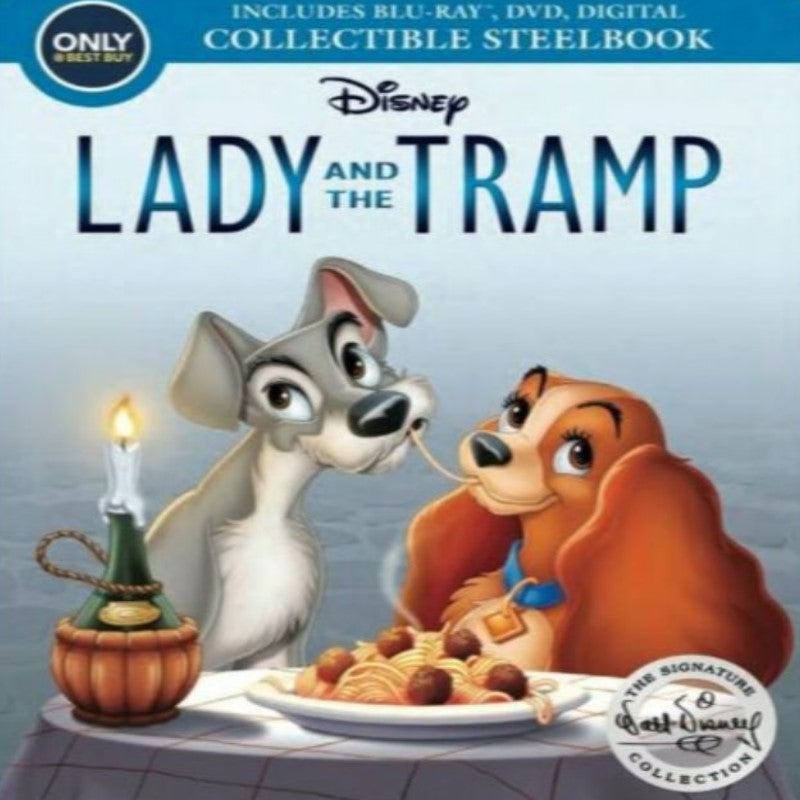 Lady and the Tramp Movie - Signature Collection SteelBook Blu-ray / DVD-Daily Steals