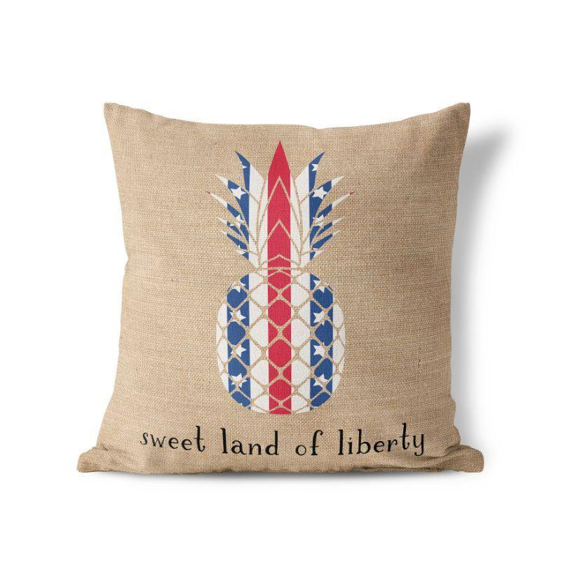 Land of Liberty - American Fourth of July Patriotic Pillow Cover-