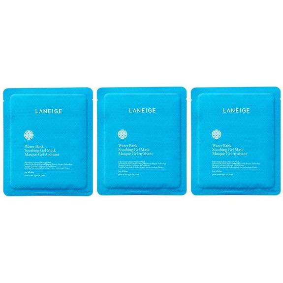 Daily Steals-Laneige Water Bank Soothing Gel Mask for All Skin Types - 3 Pack-Health and Beauty-