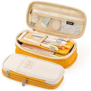 Large Folding Pen and Pencil Supplies Case-Tumeric Yellow-