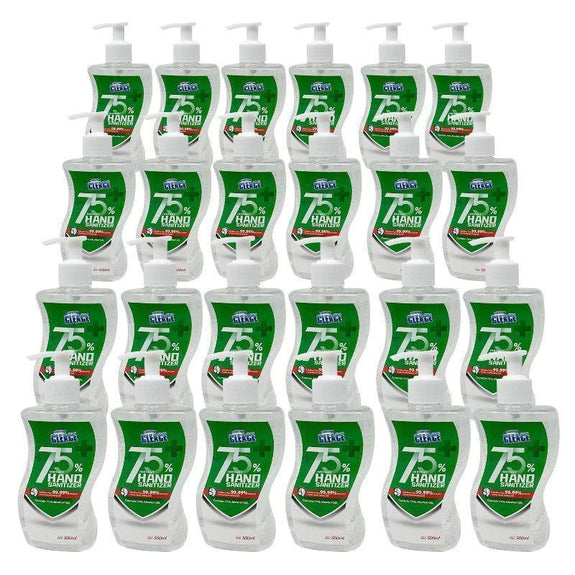 Large Hand Sanitizer Gel 75% Alcohol Instant Clean 16.9oz - 24 Pack-