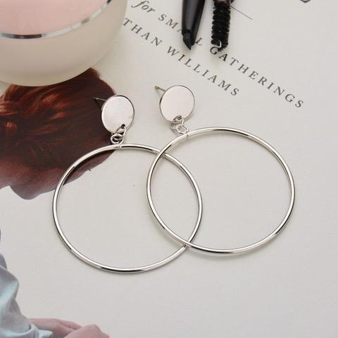 Daily Steals-Large Hoop Drop Earrings-Jewelry-White-Round-