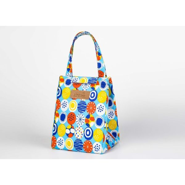 Insulated Lunch Bag – Assorted Styles-Blue Circle-Daily Steals