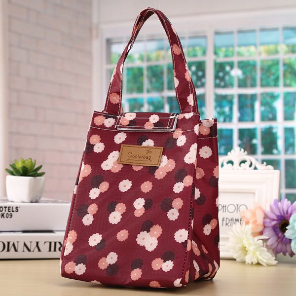 Insulated Lunch Bag – Assorted Styles-Red Flower-Daily Steals