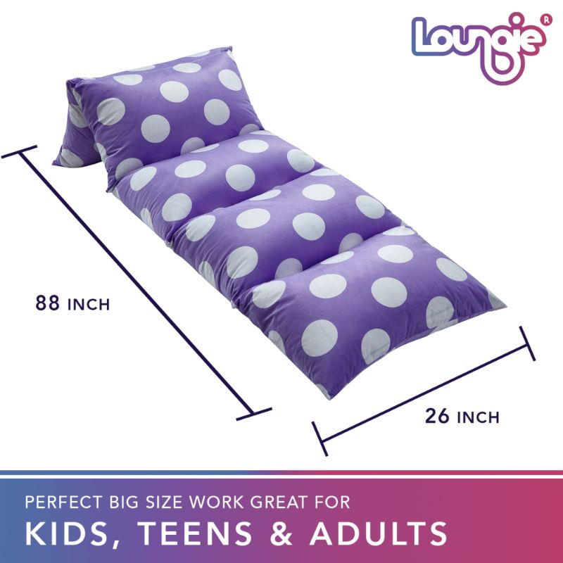 "Loungie Floor Pillow Bed Cover 88"" x 26"""