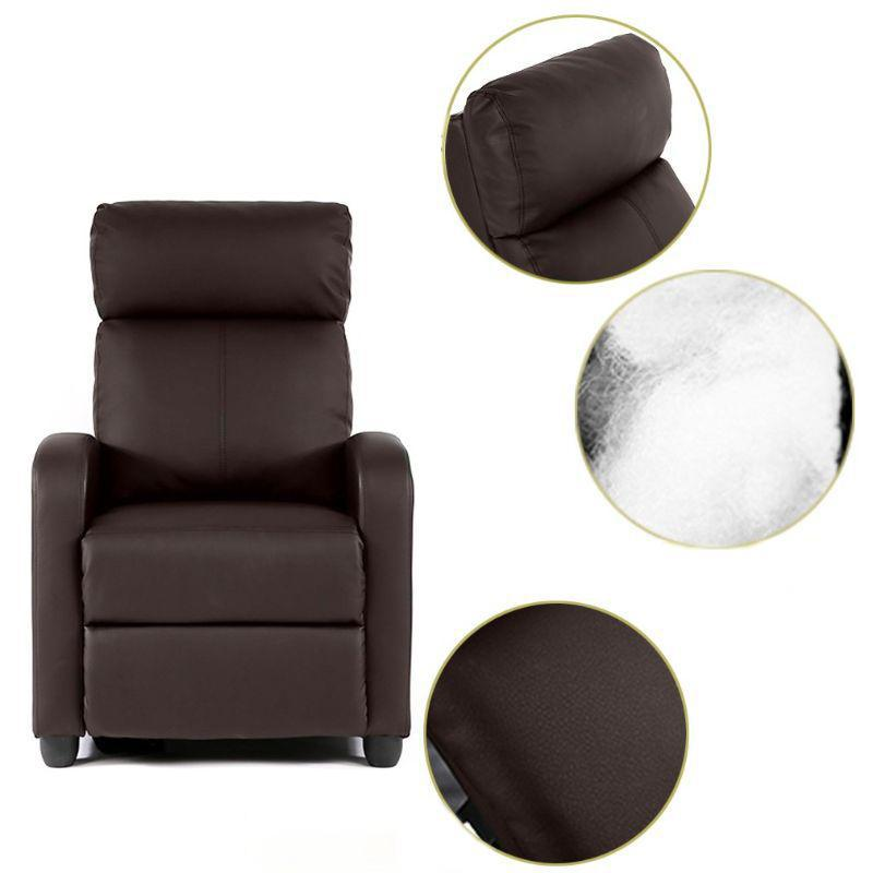 Leather or Fabric Wing-back Recliner Chair with Foot Extension-Daily Steals