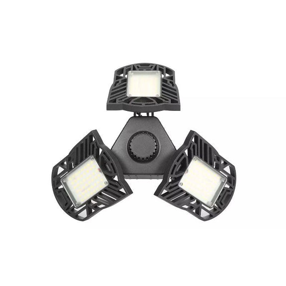 LED Garage/Shop Light, E26 - E27 80W, 7000LM, 6500K, Adjustable Panels-