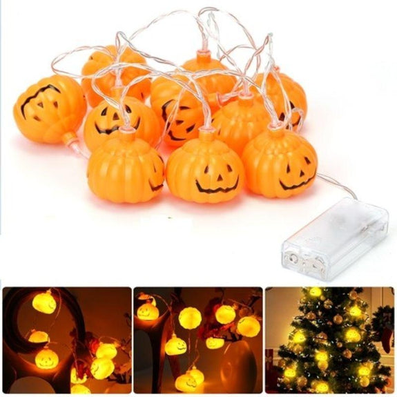 Led Pumpkin String Lights-