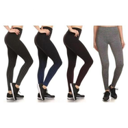 Women's Active Fleece Lined Performance Leggings - 4-Pack-Daily Steals