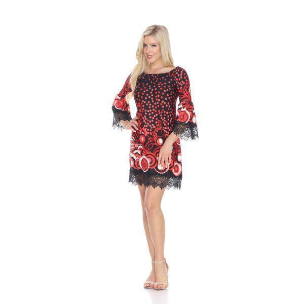 Daily Steals-Lenora' Dress-Women's Apparel-Black/Red-S-