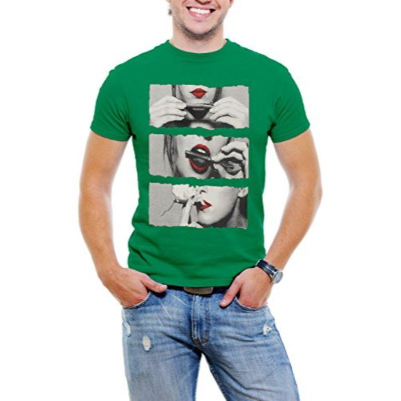 """Lick It, Roll It, Smoke It"" Men's T-Shirt-Green-4XL-Daily Steals"