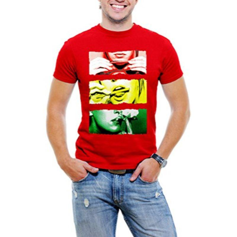 """Lick It, Roll It, Smoke It"" Men's T-Shirt-Red-S-Daily Steals"