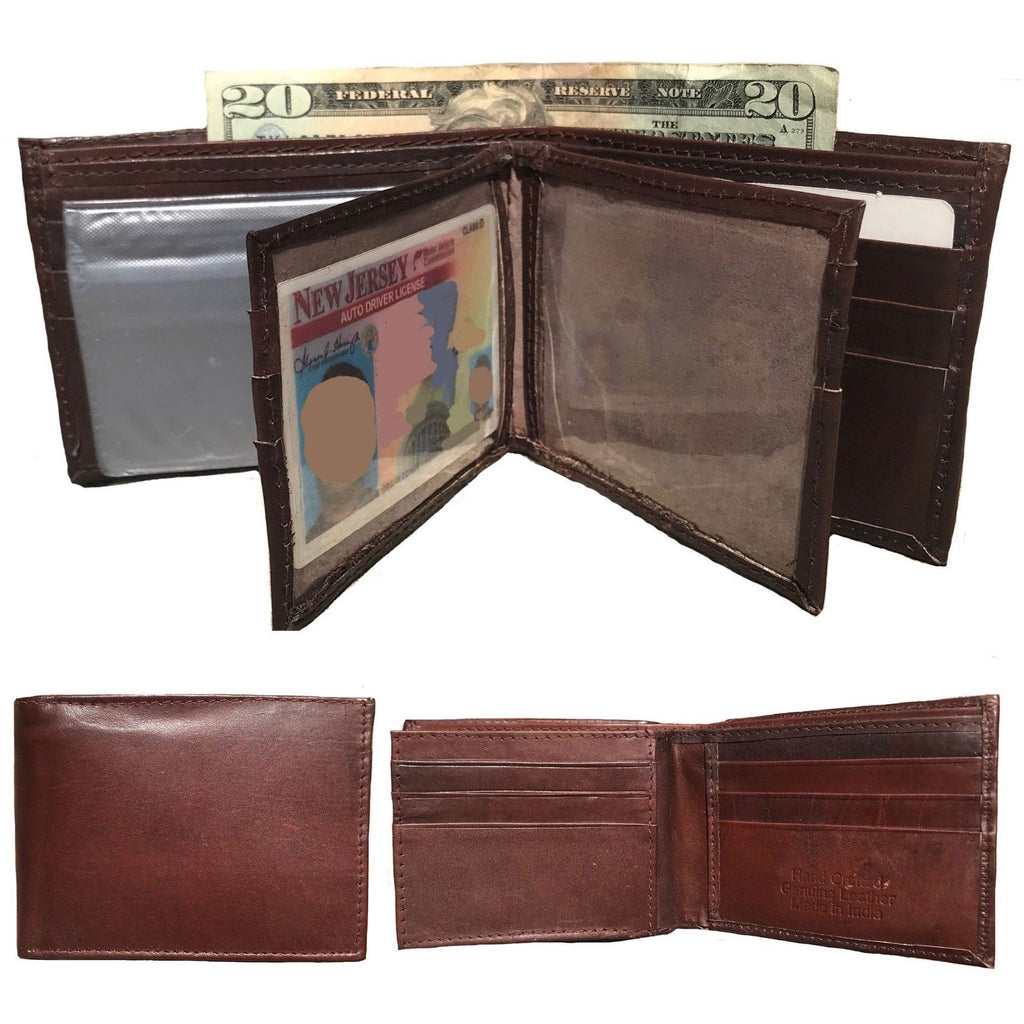 Daily Steals-Genuine Leather Bifold Wallets for Men and Women-Accessories-Light Brown-
