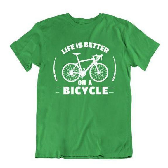Daily Steals-Life Is Better on a Bicycle T Shirt-Men's Apparel-Kelly Green-Small-