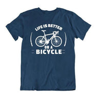 Daily Steals-Life Is Better on a Bicycle T Shirt-Men's Apparel-Navy Blue-Small-