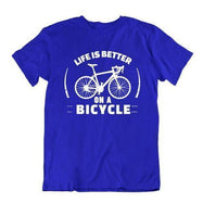 Daily Steals-Life Is Better on a Bicycle T Shirt-Men's Apparel-Royal Blue-Small-