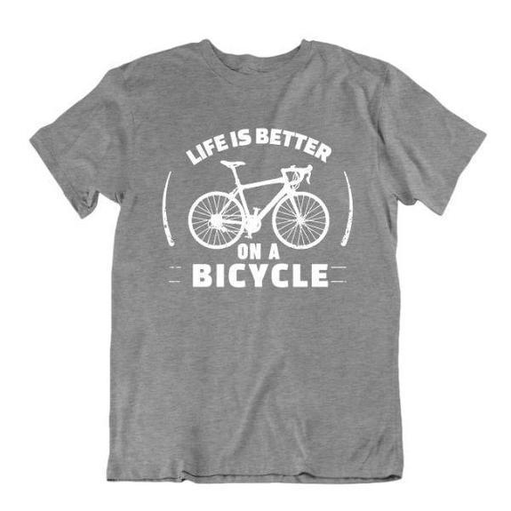 Daily Steals-Life Is Better on a Bicycle T Shirt-Men's Apparel-Sports Grey-Small-