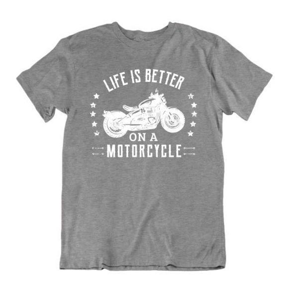 Daily Steals-Life Is Better on a Motorcycle T-Shirt-Men's Apparel-Sports Grey-Medium-