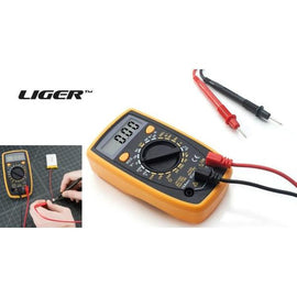 Digital Multimeter with AC/DC, Current, Voltage, Resistance, Ohm, & Amp