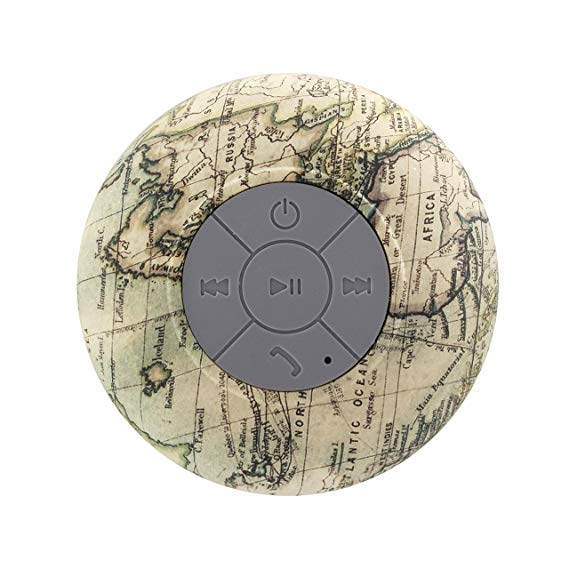 Liger Water-Resistant Bluetooth 3.0 Hands-Free Portable Shower Speaker-Globe-Daily Steals