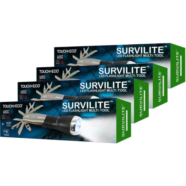 SURVILITE 14-in-1 Multitool LED Flashlight - 1, 2 or 4 Pack-4-Pack-Daily Steals