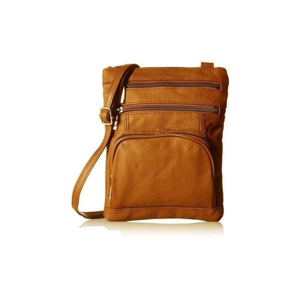 Super Soft Leather Crossbody Bag-Light Brown-Daily Steals