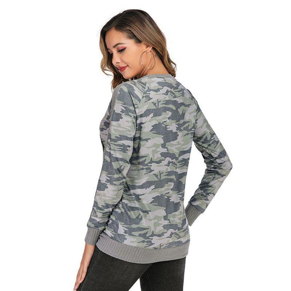 Lightweight Waffle Trim Pullover with Kangaroo Pocket-Daily Steals
