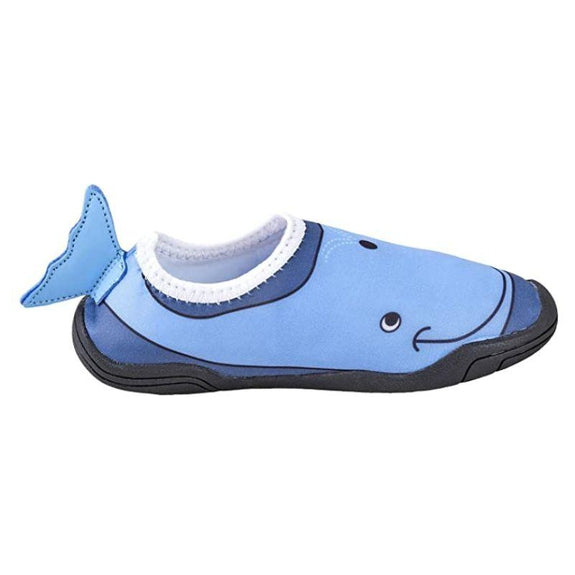 Lil' Fins Kids 3D Quick Dry Water Shoes-Yellow/Blue-Duck-1-2