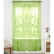 Linda Sheer Voile Curtain Panels - Various Colors - 4-Pack-Lime Green-Daily Steals