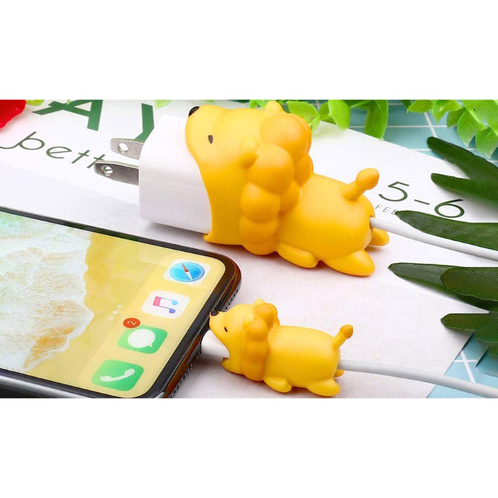 Daily Steals-iPhone Animal Biters for USB Adapter and Cable Protectors - 2 Pack-Cell and Tablet Accessories-Lion-