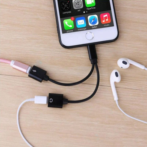 Listen & Charge Lightning Splitter Adapter for iPhone- 2 Pack