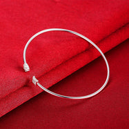 Geometric Cuff Bangle Plated in 18K White Gold-Daily Steals