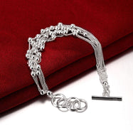 Rolling Beads Strands Bracelet Plated in 18K White Gold-Daily Steals