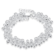 Shiny Beaded Ball Bracelet Plated in 18K White Gold-Daily Steals