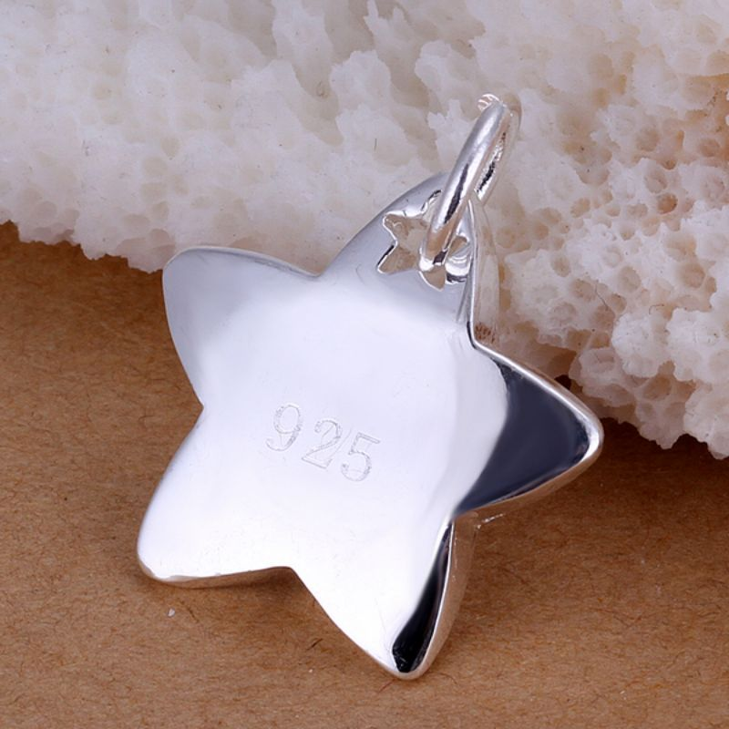 Shooting Star Necklaces Plated in 18K White Gold-Daily Steals