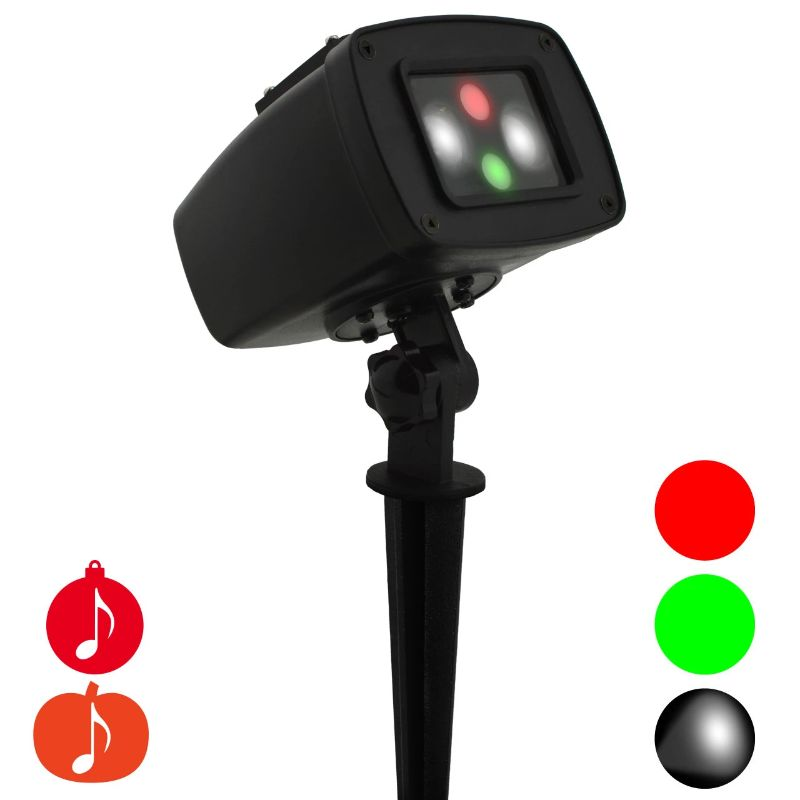 Night Stars Landscape Holiday LED Lights in Red and Green plus Spotlight-Daily Steals