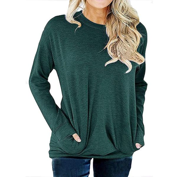Solid Long Sleeve Shirt-Green-2X-Daily Steals