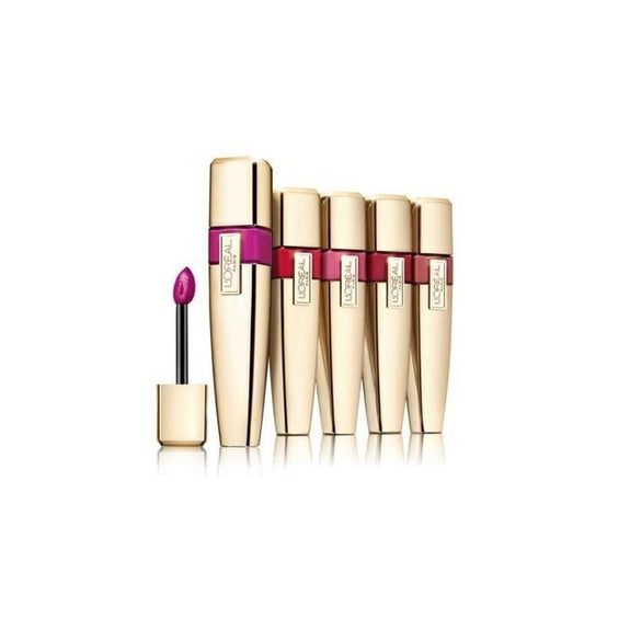 Daily Steals-Loreal Colour Riche Caresse Wet Shine Lip Stain, Assorted Colors - 5 Pack-Health and Beauty-