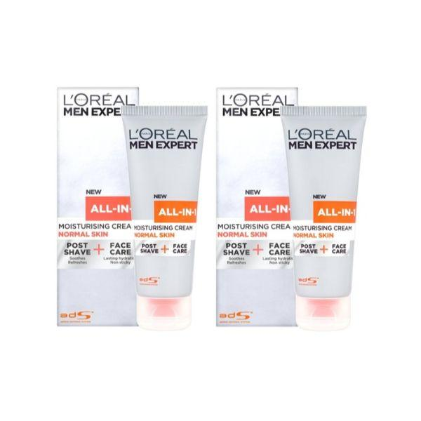 Daily Steals-L'Oreal Men Expert All in 1, Normal Skin, Post Shave & Face Care 75 ml (2 Pack)-Personal Care-